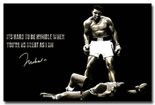 "Muhammad Ali-Haj Boxing Boxer Champion Art Silk Fabric Poster Print 12x18 24x36"" Sports Pictures For Bedroom Decor 009"