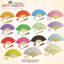 Free Shipping 10 pcs/lot 21 cm solid color paper hand fan wedding decoration party gifts favor