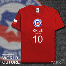 Chilean CHL Chile national footballer team t shirt men t-shirt jerseys FA brand clothing tshirts streetwear summer 2017 CL tops