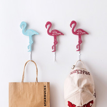 3pcs/Lot Animal Flamingos Wall Hook Wedding Decorative Livingroom Handbag Hanger Key Holder Wall Hooks For Hanging Accessories