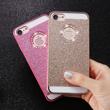 DOEES Cute Bling Phone Case For iPhone 6 6S 7 Plus 5 Case Glitter Shiny Phone Bag Case For iPhone 5 5S SE 4 4S Women Girly Cover(China)