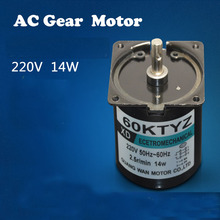 Free Shipping !  AC 220V 14W 2.5rpm/5rpm/10rpm/20rpm/30rpm/40rpm/50rpm/60/80/110rpm Permanent Magnet Synchronous Gear Motor