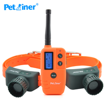 Petrainer 910B-2 dog training collar rechargeable waterproof collar pet dog remote 500 for hunting For 2 Dogs(China)