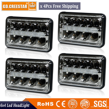 4x6 Sealed Beam High Power LED Headlight 12V 24V Led truck kneworth T800 T400 Front Lamps replace HID Halogen 6x4 headlight x4pc