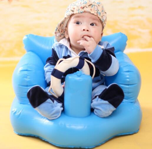 New Arrival Eco-friendly Baby Small Sofa Inflatable Baby Seat Chair Multi-function Baby Shower Chair T01<br>