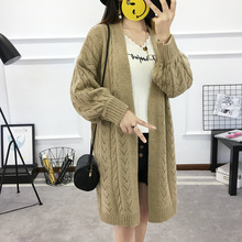 Autumn Fashion Knitted Twisted Cardigans Sweaters For Women Crochet Hollow Out Long Cardigan Rebecas Mujer women winter clothes