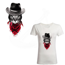 DIY T-shirt Sweater Heat Transfer Cat stickers 27*15cm iron on patches