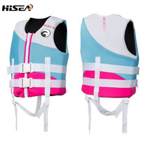 Juvenile Kids Life Vest Neoprene Floating Children Life Vest Jacket Life Swimming Learners Youth Life Jacket Water Waist Coat(China)