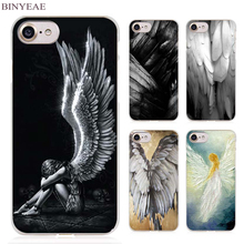 BINYEAE angel wings Clear Cell Phone Case Cover for Apple iPhone 4 4s 5 5s SE 5c 6 6s 7 7s Plus