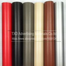 Promotion 1.52*30M/Roll Leather pattern PVC vinyl wrap film sticker for auto car body internal decoration vinyl wrap free ship