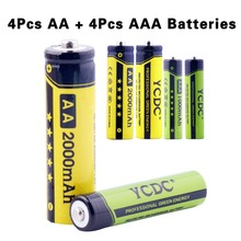 YCDC 2017 Promotion Cheap Wholesale 8PCS 16PCS Bateria AAA+AA 1000/2000mAh Pre/Stay Charge Ni-MH Cells Rechargeable Batteries