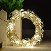 2M 5M 10M Silver Wire LED String lights Waterproof Holiday LED Strip lighting For Fairy Christmas Tree Wedding Party Decoration