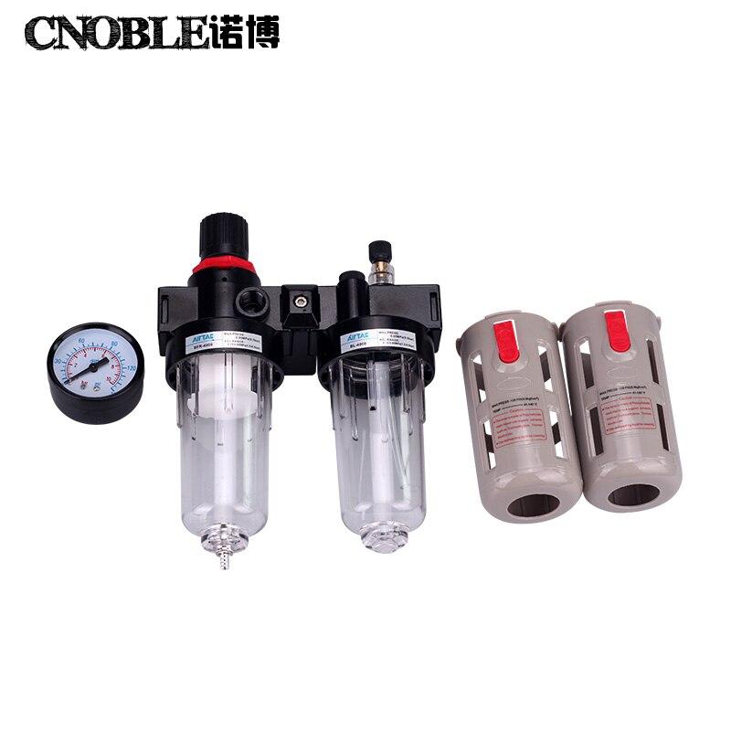 Airtac 1/2 BFC4000 Air Filter+Regulator BFR4000+Lubricator FLR BL4000<br>