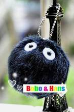 New Cute cartoon black dust doll plush charm / mobile phone strap / Wholesale