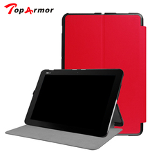 "TopArmor Ultra Slim Folio Stand Leather Case Skin Shell Cover For ASUS Transformer MINI T102HA 2in1 10.1"" Tablet PC Laptop case"