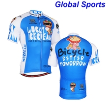 2017 brand blue carton cycling jerseys cute teenager young riding wear t shirts clothes Christmas gifts for friends families