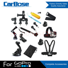 Head Chest Mount Floating Monopod 3-way Adjustment Base Auto Suction Cup Pole Accessories GoPro kit Hero 1 2 3 4 Camera