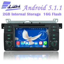 Quad-Core Capacitive Screen Android 5.1.1 Car DVD Player GPS Radio For BMW 3 Series E46 M3 Rover 75 MG ZT WiFi 3G GPS Bluetooth