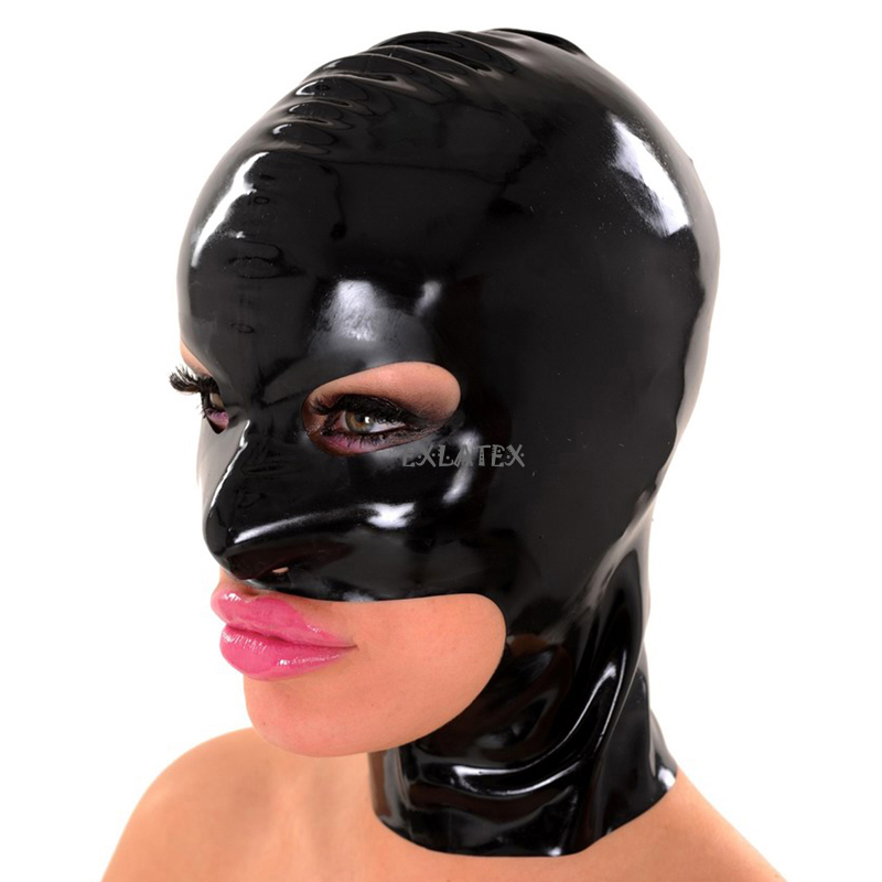 Latex Mask Fetish deadpool mask-Holes for Eye Nose and Jaw (3)