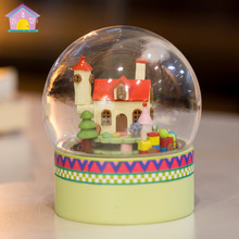 Diy Doll House Mini Glass Ball Model Building Kits Handmade Wooden Miniature Dollhouse Toy Christmas Gift -candy house