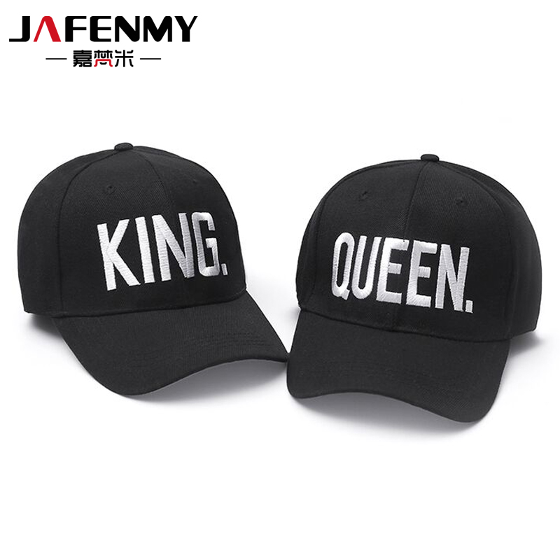 Hot Sale KING QUEEN Black Embroidery Snapback Hat Men Women Couple Baseball Caps Dad hat Casquette gorras Hip Hop sun hats(China (Mainland))