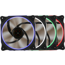 New Segotep 12cm Silent Computer Case Cooler Colling Fan LED Lights High Airflow 3/4 Pin DC 12V 1100RPM for PC Case CPU Desktop(China)