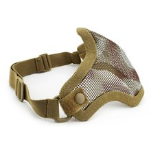 Wholesales Olive Green Airsoft War Game Half Face Guard Mesh Mask Protector Protective Useful Tool