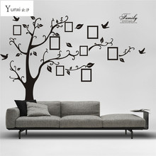 Large 200 * 250CM Black Photo Frame Tree Wall Stickers Family Forever Memory Tree Wall Decor Decorative Adesivo De Parede Decor(China)