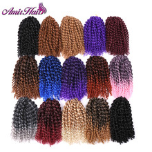 Amir Hair 10inch 3pcs/set  Marly braid Synthetic Braiding hair with Ombre purple pink and blonde Malibob Crochet Hair extensions