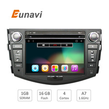 Quad Core 1024*600 HD Screen 2Din Android 6.0 Car DVD for Toyota Rav 4 RAV4 Audio Video Stereo GPS Navigation Radio RDS 3G Wifi