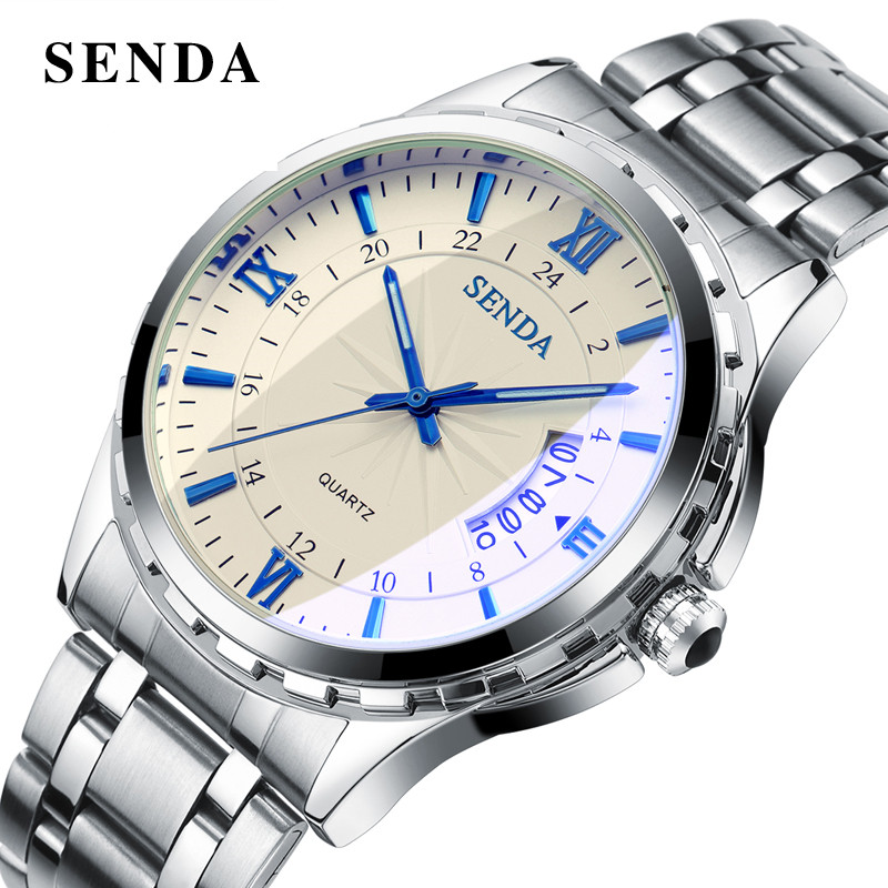 Luxury Brand SENDA Mens Watches Dress Classic Business Quartz Watch ...