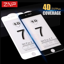 Buy ZNP 4D Curved Premium Tempered Glass iPhone 7 7 plus 4D Full cover Screen Protector Film iPhone 6 6S Plus tempered glass for $3.49 in AliExpress store