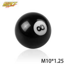 GRT - Black 8 Ball Model 52mm Acrylic Racing Auto M10x1.25 Gear Shift Knob for Manual Short Throw Gear Shifter