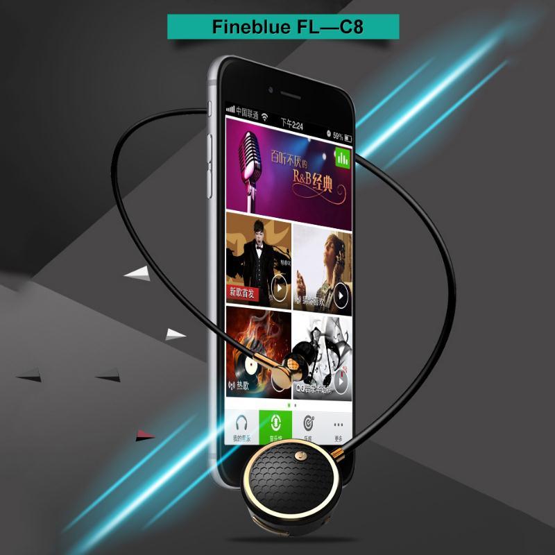 FineBlue C8 Sports Bluetooth Wireless Stereo Headset Handsfree Phones Vibration Professional Music Portable Earphone earphones<br>