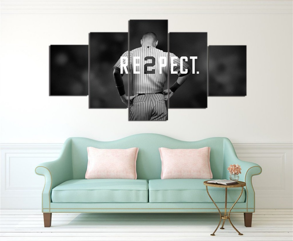 new york yankees canvas painting wall art 5 pieces prints home decor picture panels poster for linving frame. beautiful ideas. Home Design Ideas