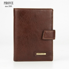 2 in 1 Men Piroyce 100% Genuine Leather Wallet Russia driver license case passport cover Money Pocket Large Capacity Coins Purse