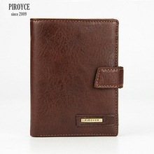 2 in 1 Men Piroyce 100% Genuine Leather Wallet Russia driver license case passport cover Money Pocket Large Capacity Coins Purse(China)