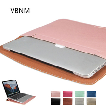 VBNM Ultra Thin Waterproof PU Leather Laptop Sleeve Cover Case for Apple Macbook Air 11 Retina 12 13 15 Liner Bag Pro 13 A1706