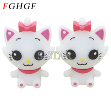 FGHGF Cat usb flash drive memory stick pendrive16gb 32gb 8gb cat keychain U Disk cartoon pen drive usb stick 2gb