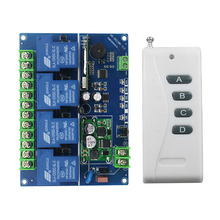 Wide voltage 12V 24V 36V 48V 4CH 30A RF Wireless Remote Control Relay Switch Security System Garage Doors  Electric Doors(04A)