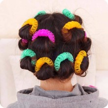 8Pcs/Set DIY Women Girls EHair Roller Hairdress Magic Bendy Curler Spiral Curls Styling Tool Hair Accessories Size 6.5/7.5 cm