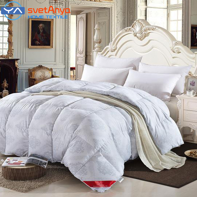 winter comforter goose down quilted blanket quilt graypink color bedding king - Down Comforter Queen