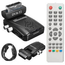 1pc Digital DVB-T2 Scart H.264 1080P HD Terrestrial Receiver TV Box USB SD HDMI IR + Remote Control+IR Cable + EU Power Adapter