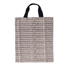 Handbag Musical Bag Portable Cotton And Linen Music Score Bag Stave Pattern Musical Bags Musical Instruments Accessories