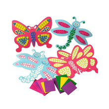 16*18cm  Kids Foam Mosaic Stickers Art Puzzle DIY 3D Diamond Pasted Cartoon Butterfly dragonfly Children's Educational Toy