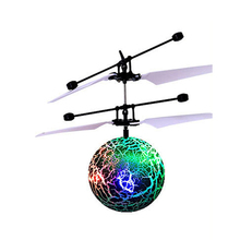 Hand Flying UFO Ball LED Colors Mini Induction Suspension RC Aircraft Toy Remote(China)