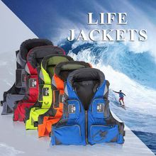 men Hooded fishing clothes life vest life jacket 5 colors L-XXL sea Adult-Adjustable-Safety-Life-Jacket-Survival-Vest-Swimming(China)