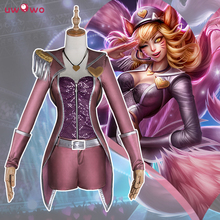 LOL Cosplay Ahri Game The Nine-Tailed Fox Popstar Purple Fighting Full Set Costume Ahri Cosplay LOL