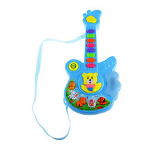 Electric Guitar Musical Children Baby Nursery Toys Button Animal Instruments Kid Preschool Childhood Learning Educational Toy(China)
