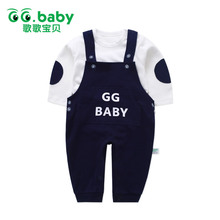 Winter Suspender Pants White TShirt Cotton Newborn Infant Baby Boys Set Clothes Baby Girl Outfits Boy Suit Outfit Clothing Sets(China)